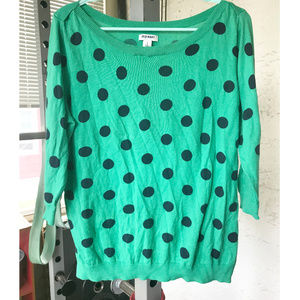 Green and Black Polka Dot Sweater Old Navy